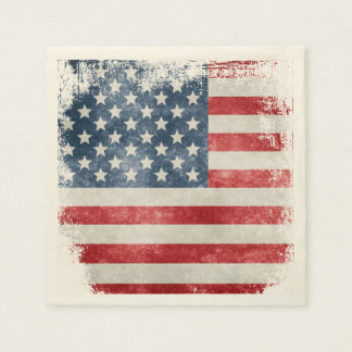 USA Grunge American Flag Napkin