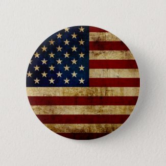 USA / Grunge Flag Button
