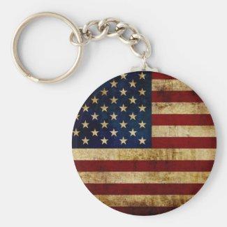 USA / Grunge Flag Keychain