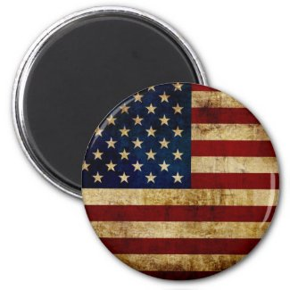 USA / Grunge Flag Magnet