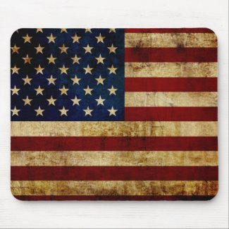 USA / Grunge Flag Mouse Pad