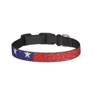 Usa Grunge Heart Shape Flag Dog Collar
