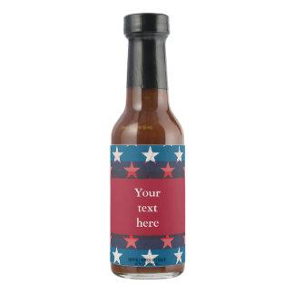 USa grunge stars on blue Hot Sauce