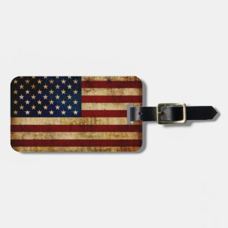 USA / Grunged Flag Bag Tag