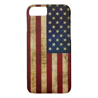 USA / Grunged Flag iPhone 8/7 Case