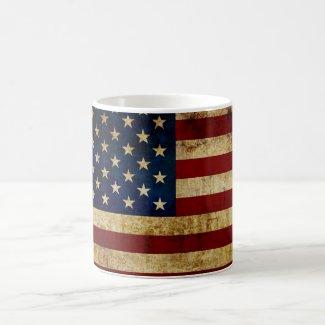 USA / Grunged Flag Coffee Mug