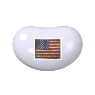 USA / Grunged Flag Jelly Belly Candy Tin