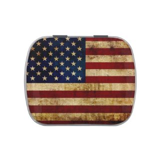 USA / Grunged Flag Jelly Belly Tin