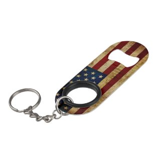 USA / Grunged Flag Keychain Bottle Opener