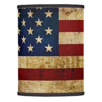 USA / Grunged Flag Lamp Shade