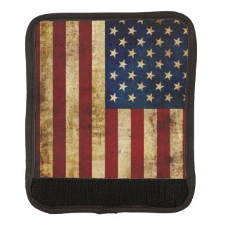 USA / Grunged Flag Luggage Handle Wrap