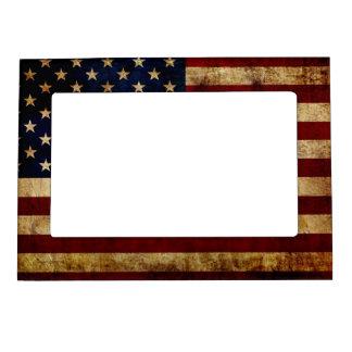 USA / Grunged Flag Magnetic Frame