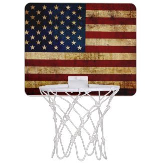 USA / Grunged Flag Mini Basketball Backboard
