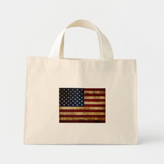 USA / Grunged Flag Mini Tote Bag