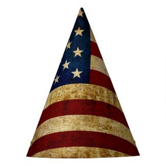 USA / Grunged Flag... Party Hat