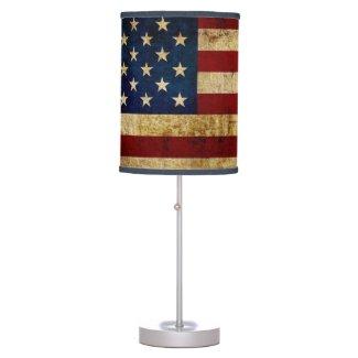USA / Grunged Flag Table Lamp