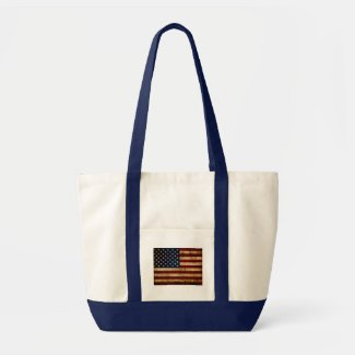 USA / Grunged Flag Tote Bag
