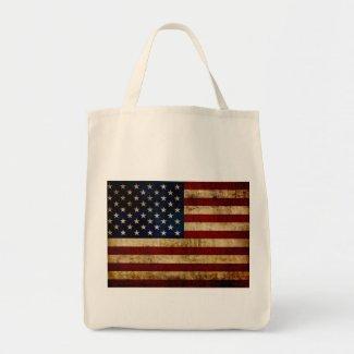 USA / Grunged Flag Tote Bag