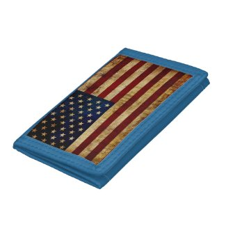 USA / Grunged Flag... Trifold Wallet