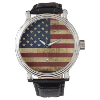 USA / Grunged Flag... Watch