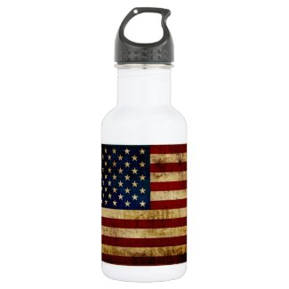 USA / Grunged Flag Water Bottle