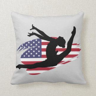 USA Gymnast square pillow