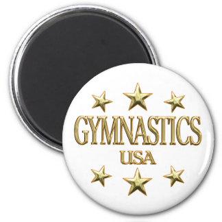 USA Gymnastics 2 Inch Round Magnet