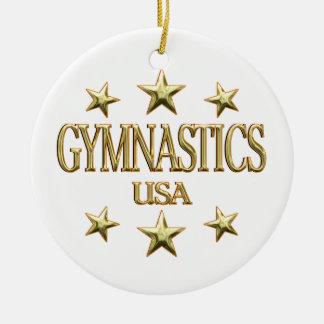 USA Gymnastics Ceramic Ornament