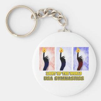 USA Gymnastics - Light Up The World Key Chain
