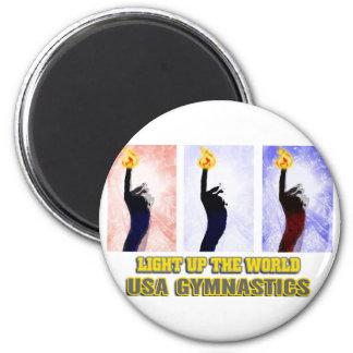 USA Gymnastics - Light Up The World Magnet