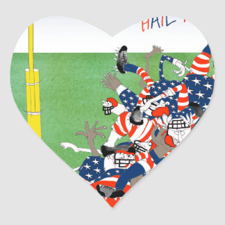 USA hail mary pass, tony fernandes Heart Sticker