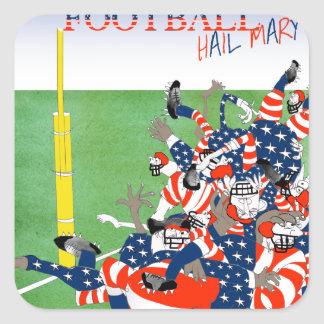USA hail mary pass, tony fernandes Square Sticker