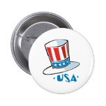 USA Hat Button