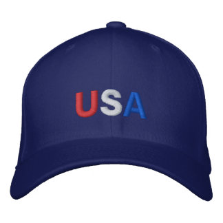 USA hat in blue