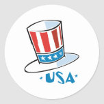 USA Hat Stickers