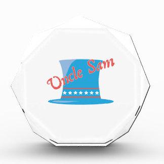 USA Hat Uncle Sam Acrylic Award