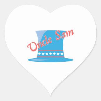 USA Hat Uncle Sam Heart Sticker