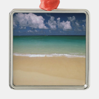 USA, Hawaii. Beach scene Metal Ornament