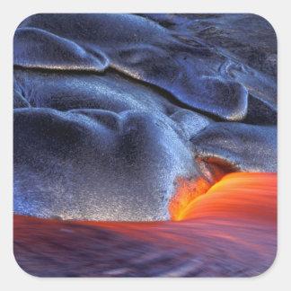 USA, Hawaii, Big Island, Kilauea, Volcanoes NP, Square Sticker