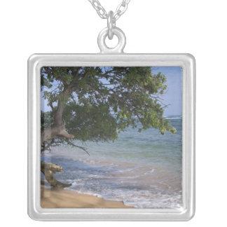 USA, Hawaii, Kauai, beach scenic. RF) Silver Plated Necklace