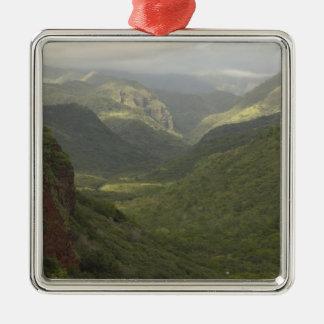 USA, Hawaii, Kauai, Canyon overlook. (RF) Metal Ornament