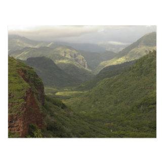 USA, Hawaii, Kauai, Canyon overlook. (RF) Postcard
