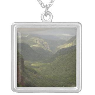 USA, Hawaii, Kauai, Canyon overlook. (RF) Silver Plated Necklace
