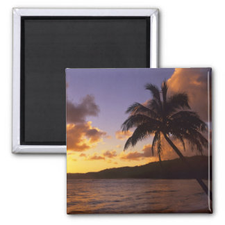 USA, Hawaii, Kauai, Colorful sunrise in a 2 2 Inch Square Magnet