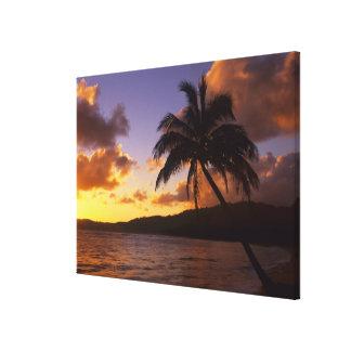 USA, Hawaii, Kauai, Colorful sunrise in a 2 Canvas Print