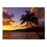 USA, Hawaii, Kauai, Colorful sunrise in a 2 Postcard