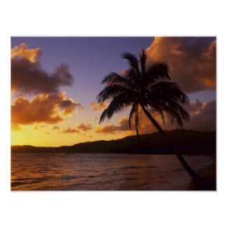 USA, Hawaii, Kauai, Colorful sunrise in a 2 Poster