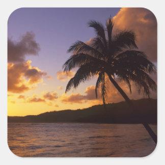 USA, Hawaii, Kauai, Colorful sunrise in a 2 Square Sticker
