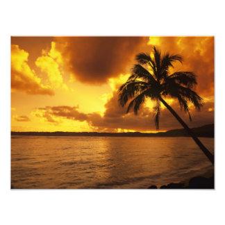 USA, Hawaii, Kauai, Colorful sunrise in a Photo Print