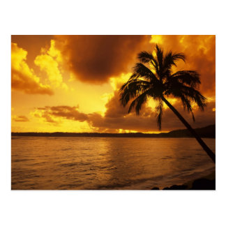 USA, Hawaii, Kauai, Colorful sunrise in a Postcard